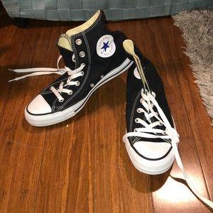 Black converse high tops brand new